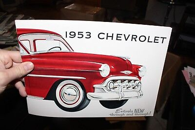 1953 Chevy Original Sales Brochure Booklet Catalog Old Book Dealership
