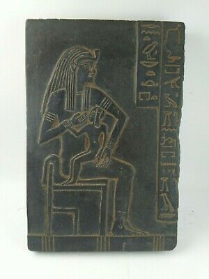 RARE ANCIENT EGYPTIAN ANTIQUE ISIS Nursing Horus Stella 1518-1357 BC