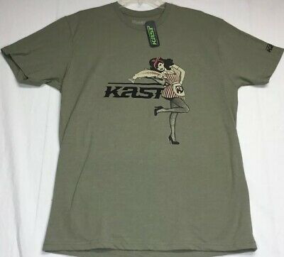 Kast Extreme Fishing Gear Ronin Hooded Sun Shirt Storm Grey Size Medium NWT