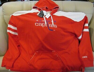 best loved 014bf 85895 NHL WASHINGTON CAPITALS Lace-Up Sweatshirt Hockey Jersey New ...