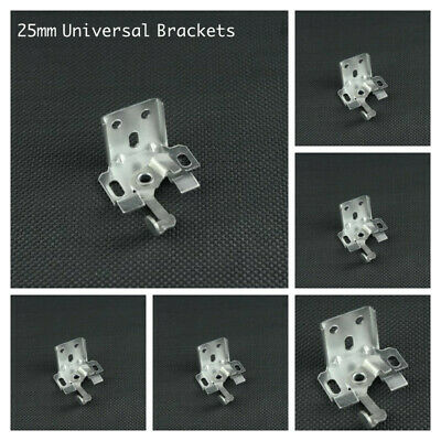 10x 25mm VENETIAN BLINDS SWIVEL BRACKET - METAL - 25MM HEADRAIL - TOP & FACE FIX