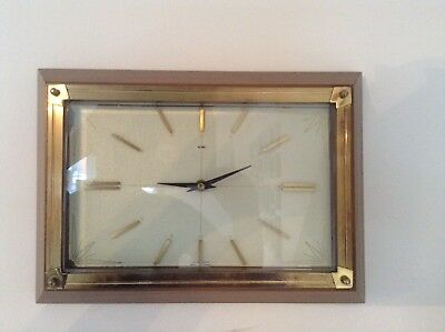 Antique Retro Vintage Mid Century Modern Metamec Wall Clock Collectable
