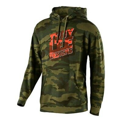 Troy Lee Designs Block Party Mens Pullover Sweatshirt Forest Camo