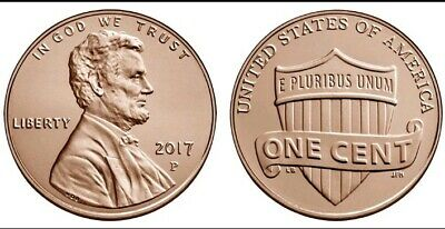 2017 P Lincoln Shield Cent • brilliant uncirculated Gem Cent Full of Luster
