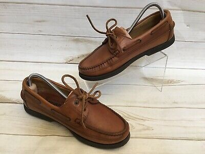 f86cf4abfda Mephisto Spinnaker Mens Brown Leather Boat Shoes 2 Eye Deck Sport Size 9