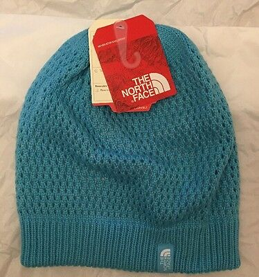 d3e17b8311ca8b The North Face Youth Shinsky Reversible Blue White Beanie Hat Cap S New NWT