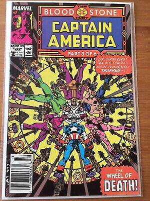 Captain America 359 F/VF 1st appearance of Crossbones Newsstand