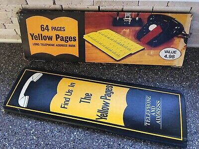 Vintage Yellow Pages Advertising Telephone & Address Book 1969 Unused