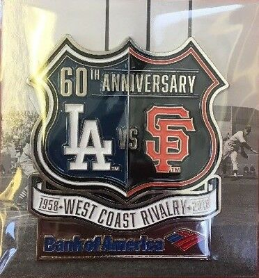 4/8/2018 SF GIANTS 2018 RIVALRY PIN LA DODGERS SGA 60th ANNIVERSARY