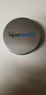 Nearsights Classic Monocle Black Frame 40mm Diameter 2.50 Diopter Lens