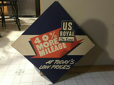 Vintage Garage Tire Sign Us Royal Tires Tire Display Old Original De