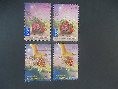 -2010    Christmas  Island  Both  Perf;   Issue's  -   4  Stamps  -Used -- A1