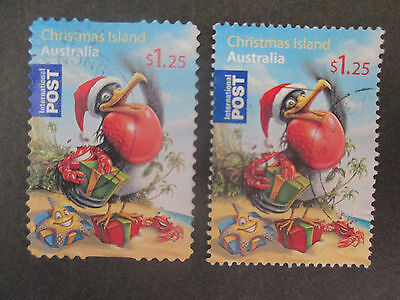 -2009    Christmas  Island   Christmas  Inter;   Issue   2  Stamps  -Used- A1