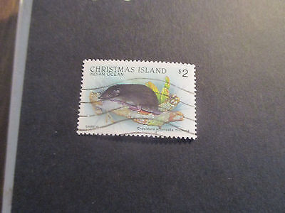 1--1988 Christmas  Island -Wild-Life  High  Value  $2  Stamp  -Used--Great Lot