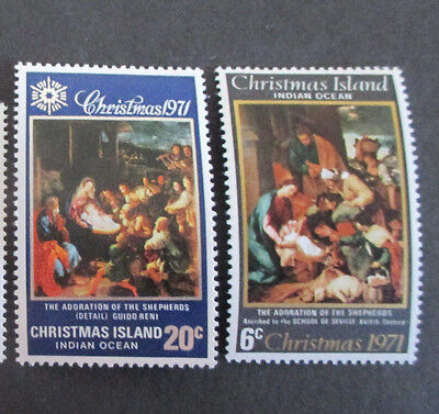 1--1971  -Chris; Island  --Christmas  Issues-- F/s  Mint  2  Stamps -Mnh  -A1
