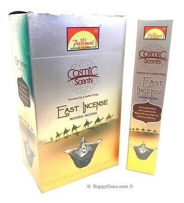 """East Incense"" Parimal Cosmic Scents Masala Incense Sticks 12x17g 204g One Dozen"
