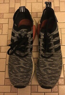 af30bf70b ADIDAS NMD R2 PK Core Black White Red BY9409 Nw Tiger Camo Glitch MN ...