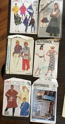 Lot of 6 Vintage Sewing Patterns Simplicity, Mccall's, Butterick All Open/ Used