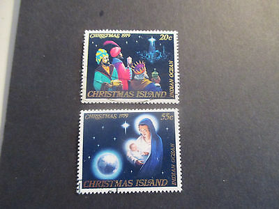 2--1979- Christmas  Island -Christmas Issue --- 2 Stamps  -Cto---Great Lot