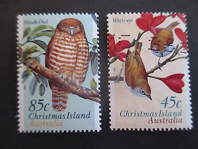 2-- 1997 -Christmas   Islands - Land  Birds  2  Stamps- Used -A1