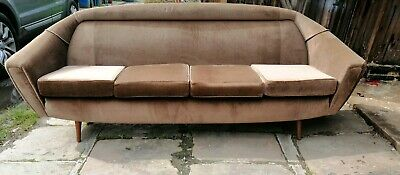 Vintage 1960's Greaves And Thomas 'Put u Up' Sofa Bed 4 Seater Teak Retro
