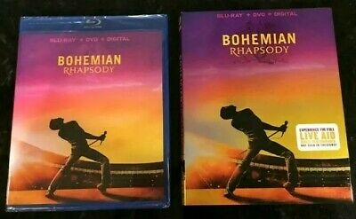 Bohemian Rhapsody (Blu-ray and DVD, 2019) Freddie Mercury, Queen - No Digital