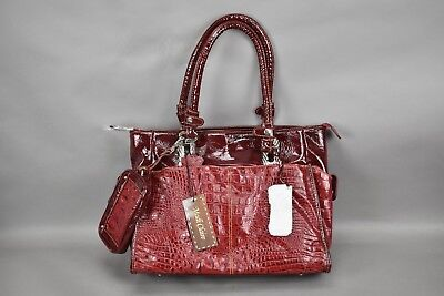Madi Claire Tami Croco Embossed Leather Shopper Handbag In Blush