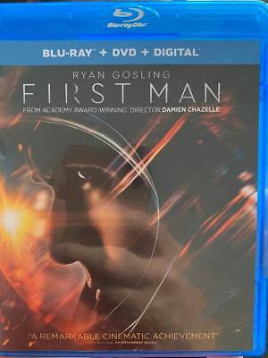 First Man (2019) Blu-Ray No DVD/Digital/Slip Like New FAST FREE Combine SHIPPING