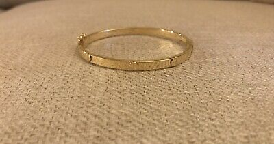 2a4d3a668 14K Pretty Yellow Gold Womens Oval Cuff Bracelet with Screws 5.7 grams
