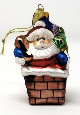 Christmas Ornaments - Thomas Pacconi - Blown Glass Handmade - Santa