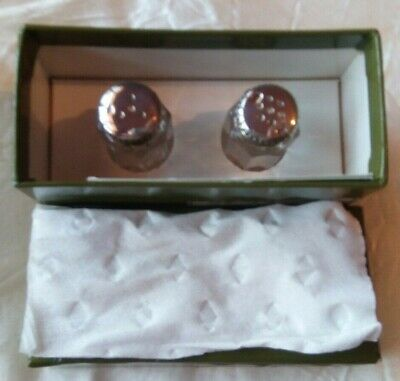 Christofle Paris Art Deco Sterling Silver Crystal Salt and Pepper Shakers