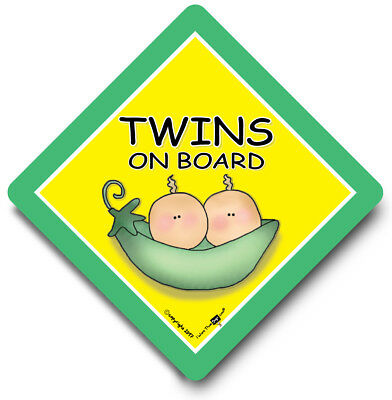 TWINS Car Sign, Baby on Board Sign, Grandchild On Board, Baby Car Sign, Twins
