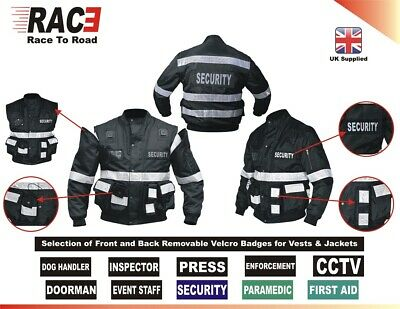 RAC3 Mens 2 in 1 Oxford Security Doorman Vest, Jacket With Removable Sleeves