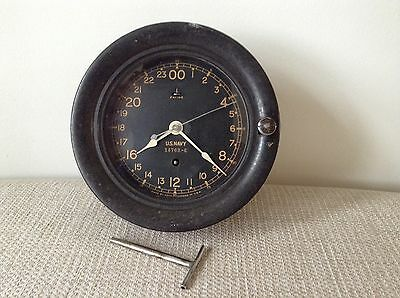 Seth Thomas U.S Navy Ships Clock WW2 Rare Collectable Antique