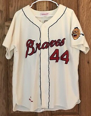 3d14c28f Hank Aaron Authentic 1963 Milwaukee Braves Mitchell & Ness Jersey Size 40  ...