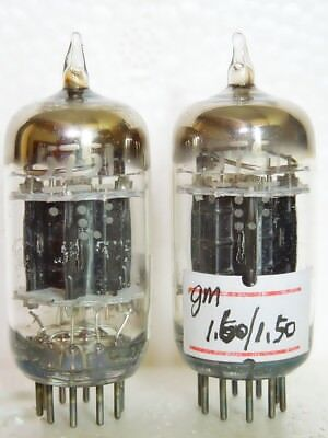 TROPHY NOS 5751 12AX7 GE 5-STAR BLACK-PLATE MATCHED TRIODE TUBE 3-MICA D-GETTERS