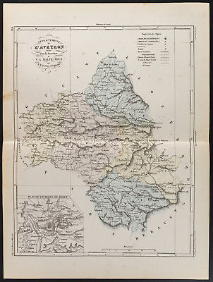1855 - Old Map of the Department L'Aveyron, per Dufour