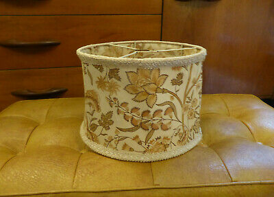 Vintage Retro Floral Fabric Lightshade Lamp Shade 60s 70s Mid Century