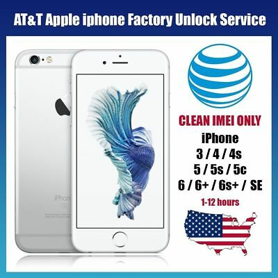 Premium FACTORY UNLOCK SERVICE AT&T CODE ATT for IPhone  4 5 5S 6 6s SE 7 8 X