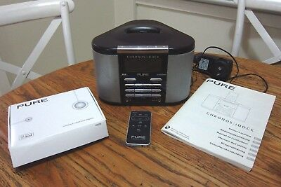 PURE Chronos iDock DAB Digital Radio + Ipod Adapters + Remote + Instructions