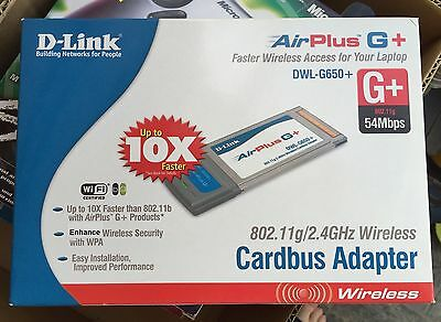 d-link Cardbus Network Wireless Card