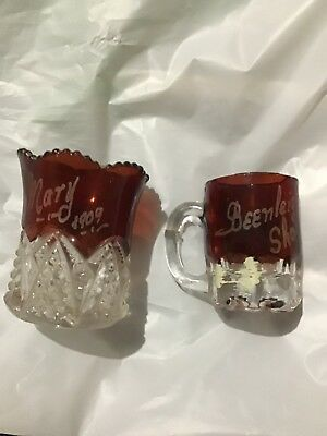 Beenleigh Show - Vintage Glass Mini Cups - 1909 ?