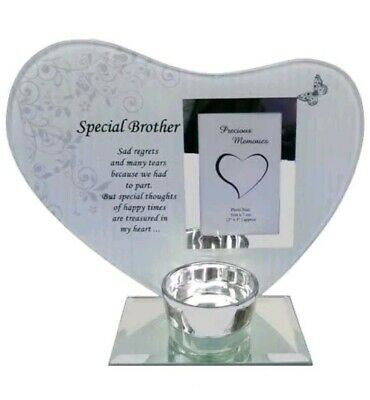 Photo & Poem in Heaven Plaque Memorial Tea Light for Many Relative Candle Holder