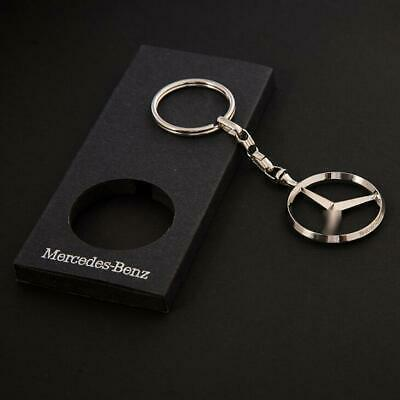 New 3D Car Logo Keyring Keychain Metal Pendant Holder for Mercedes Benz