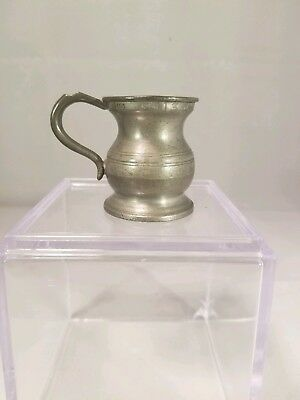 Pewter Potbelly Bulbous Measure Antique Yates 13th Pint Marked Quarter Gill