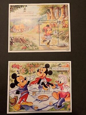 DISNEY- GRENADINES OF ST VINCENT - 1992) - Little Red Riding Hood  2x Minisheets