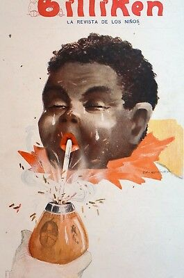 Black Americana 1921 Crying Child BILLIKEN COVER ART Spanish Childrens Magazine