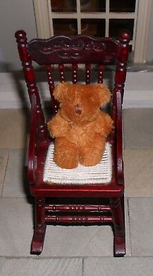 Dolls' House 1/12Th Scale Fluffy Brown Teddy Bear