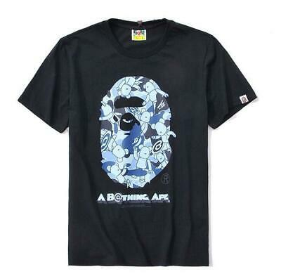 Mens Bape Cartoon Monkey Letter Head Summer Popular A Bathing Ape T-Shirts