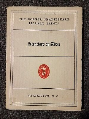 Collectible The Folger Shakespeare Library Prints Stratford on Avon